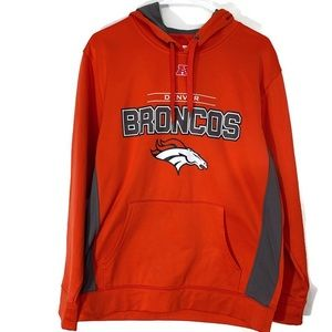 NFL Denver Broncos Orange Hoodie Sz Medium